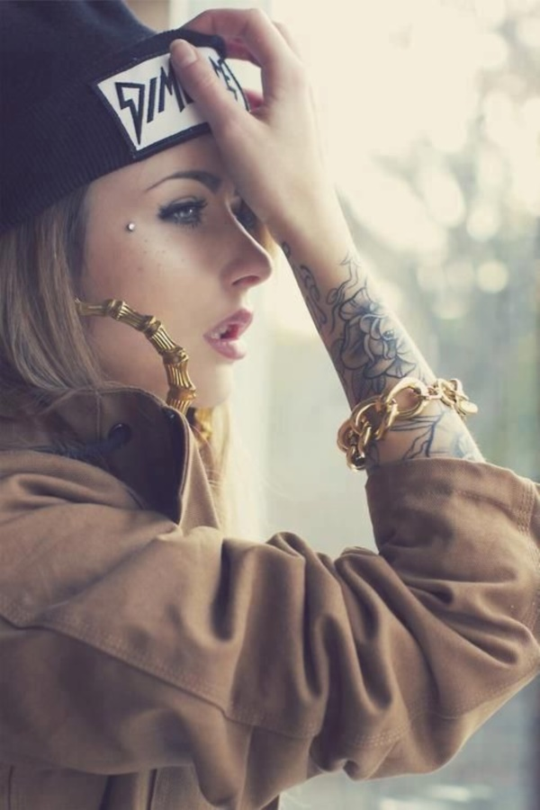Cute Facial Piercings for Girls to Stand in VOUGUE0041