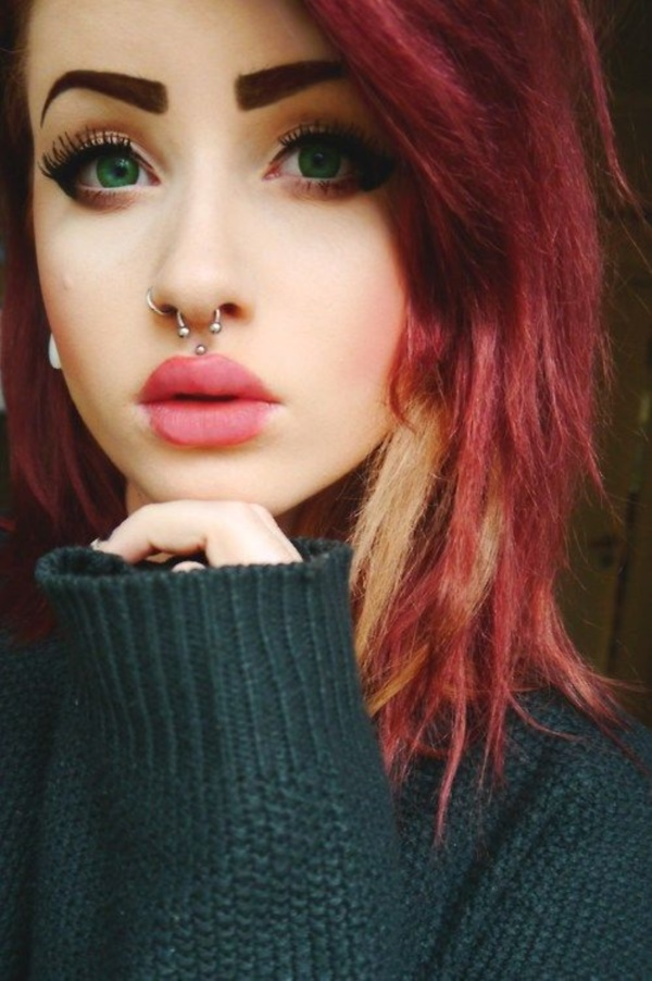 Cute Facial Piercings for Girls to Stand in VOUGUE0591