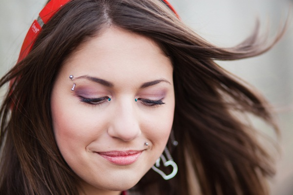 Eyebrow piercing designs13