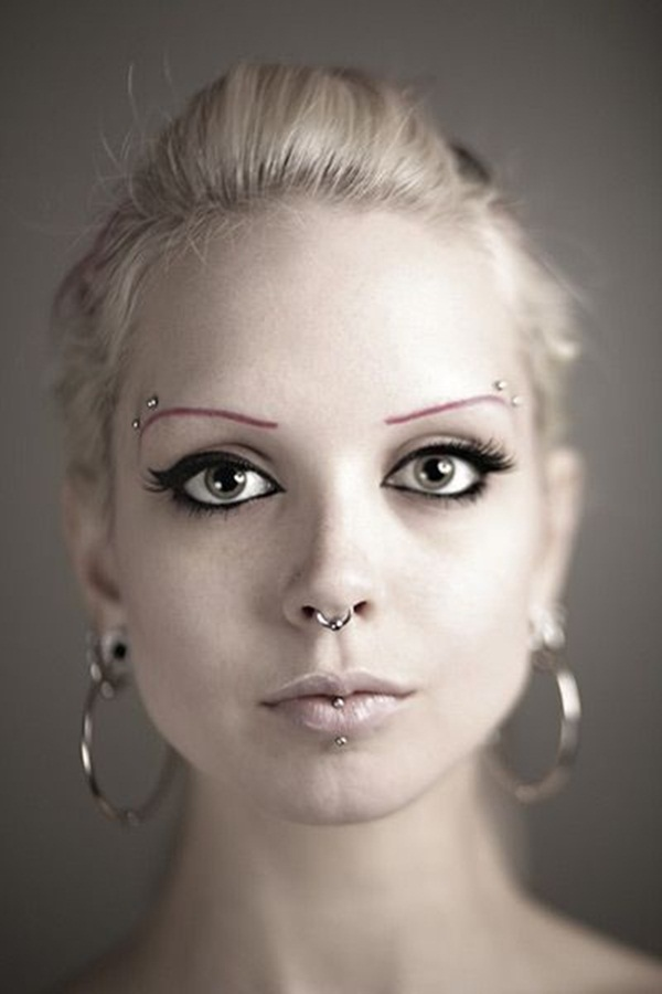 Eyebrow piercing designs21