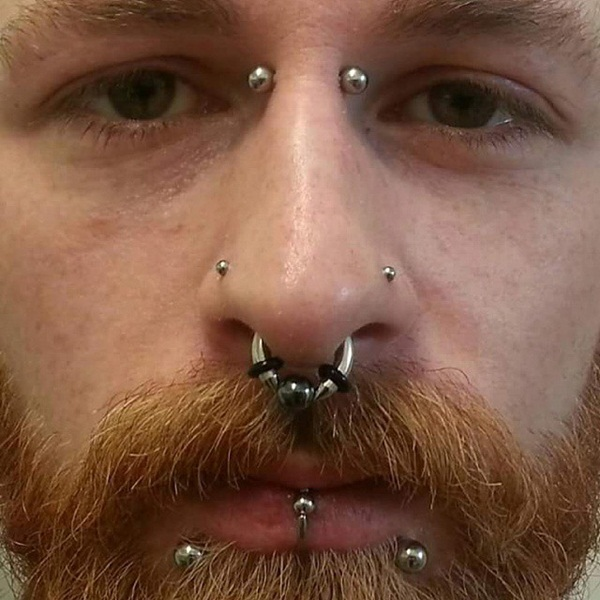 Eyebrow piercing designs34
