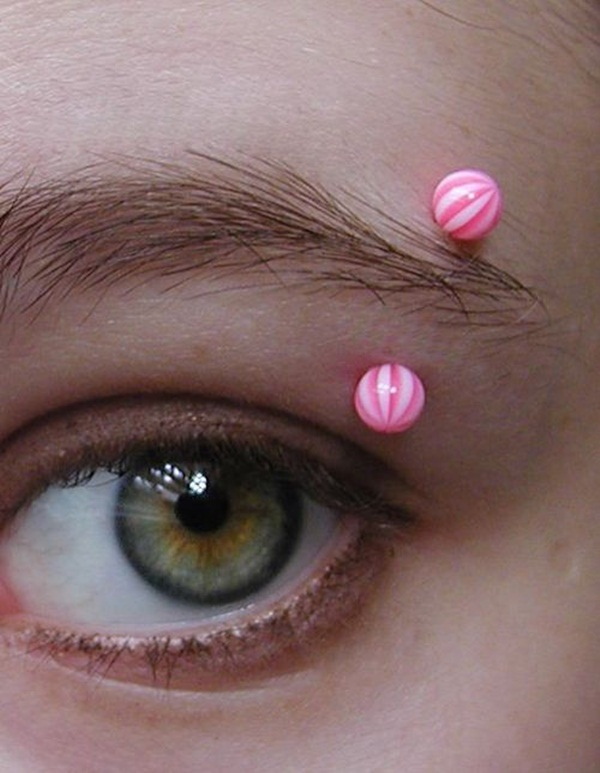 Eyebrow piercing designs49