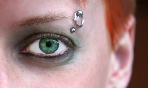Eyebrow piercing designs55