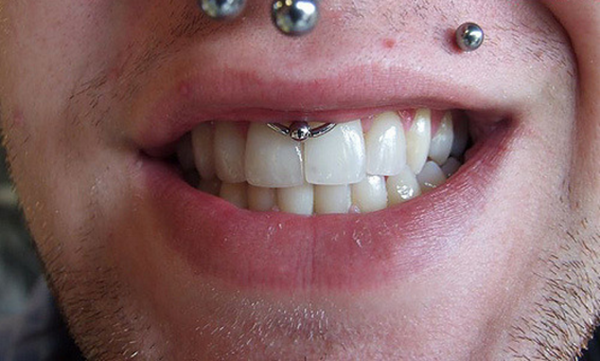 Smiley Piercing designs 55