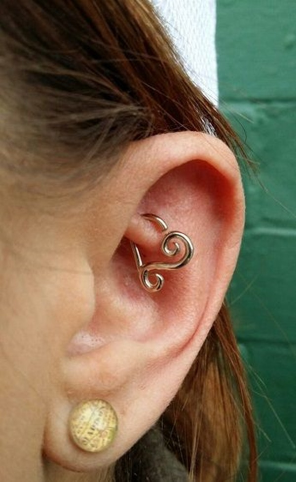 80 double layered rook piercings to accessorize your ear