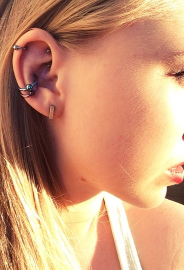 80+ Double Layered Rook Piercings to Accessorize Your Ear Ear Piercings Snug