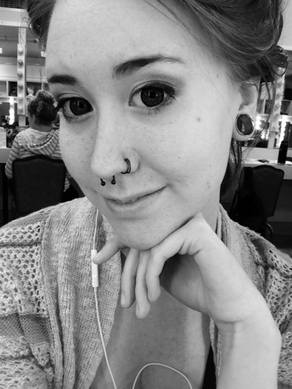 90 flattering double nose piercings for all face types creepy look with double nose rings and contacts ccuart Images