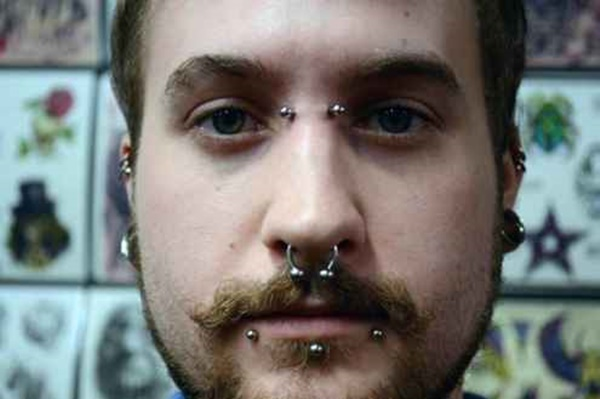 Mens Black Nose Ring