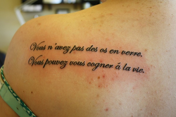 90 inspirational quotes tattoo designs for French quote tattoos
