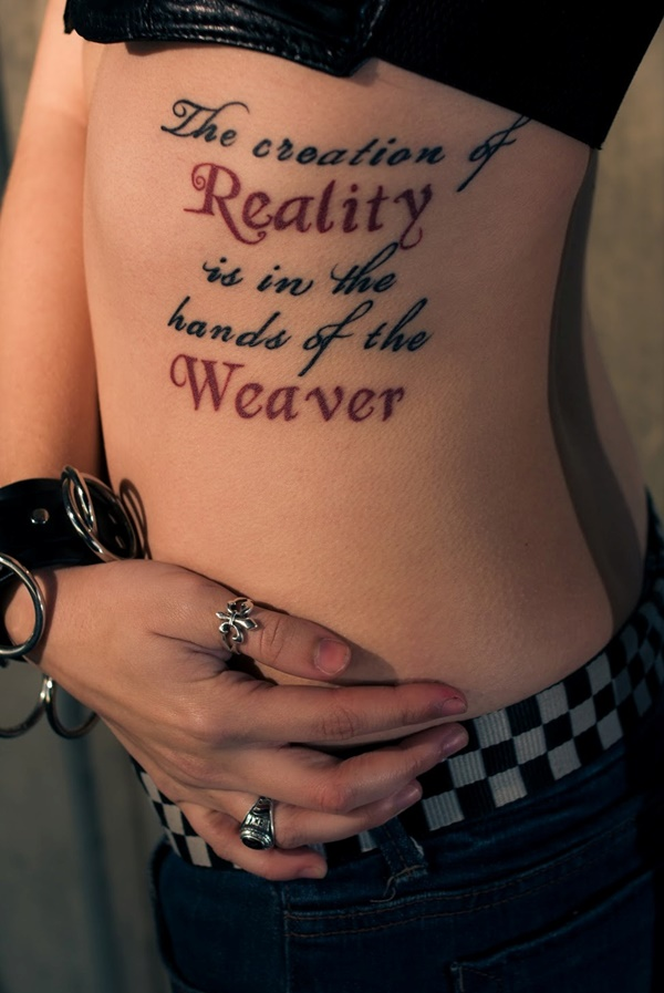 90 inspirational quotes tattoo designs for Good quotes for tattoos on ribs