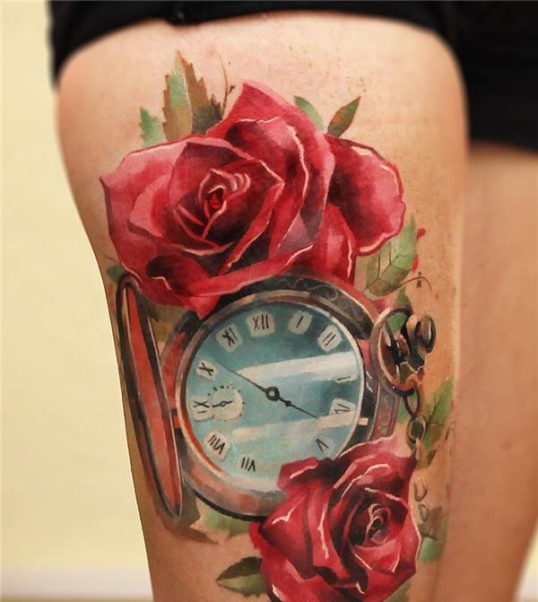 thigh tattoo designs (19)