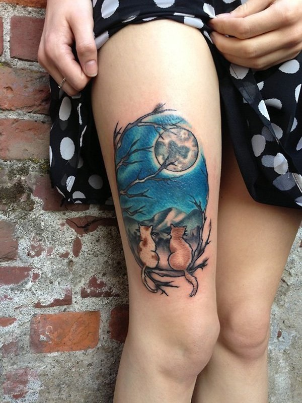 thigh tattoo designs (21)