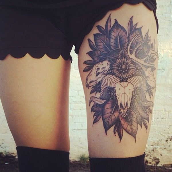 thigh tattoo designs (31)