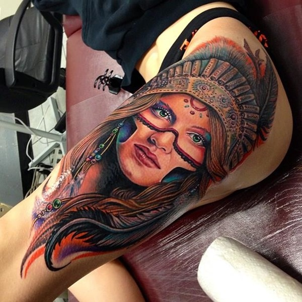 thigh tattoo designs (46)