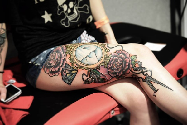 thigh tattoo designs (47)