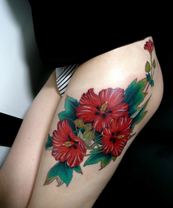 thigh tattoo designs (63)