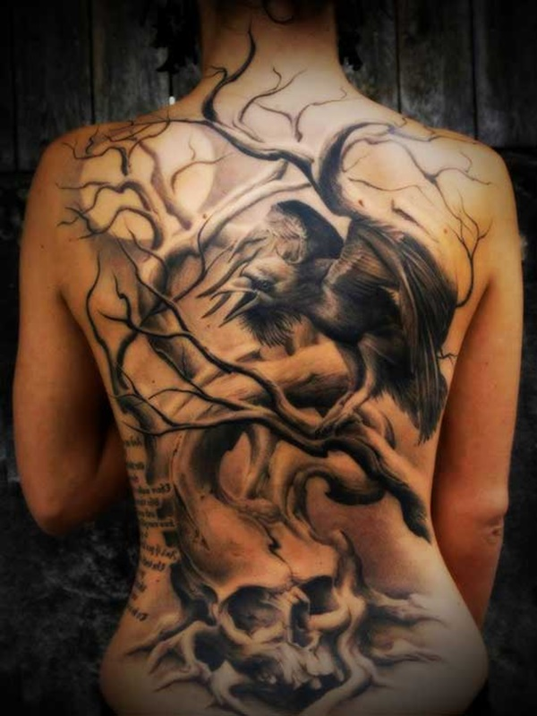 Tattoo Ideas On Back: 83 Attractive Back Tattoo Designs For Women