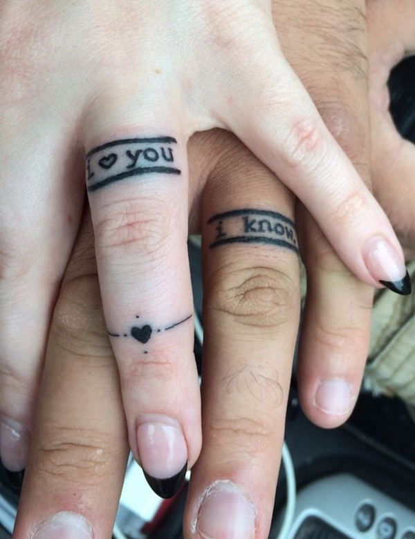 wedding band tattoo designs 46 - Wedding Rings Tattoos