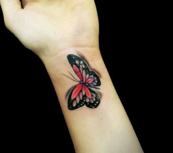A Butterfly Tattoo on Wrist
