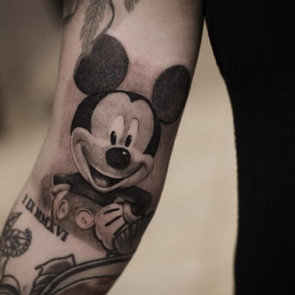 80 mickey mouse tattoos to preserve the walt disney magic. Black Bedroom Furniture Sets. Home Design Ideas